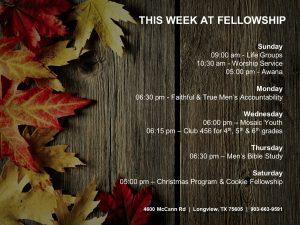 This Week at Fellowship